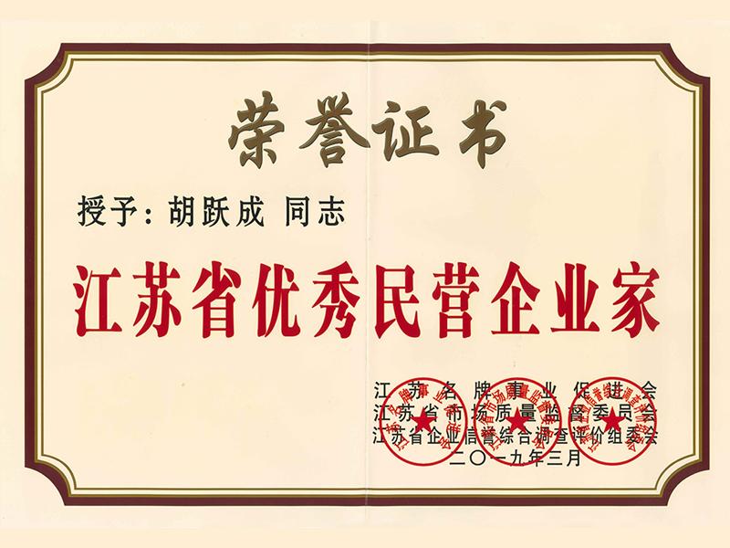 江苏省优秀名营企业家胡跃成-晨皓控股