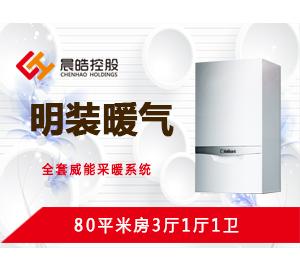 明装暖气-80平米3房1厅1卫方案