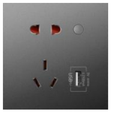 10A 智能插座 U2(计量/USB/智+/灰色)